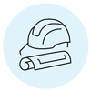 icons-blue_Helmet and drawing