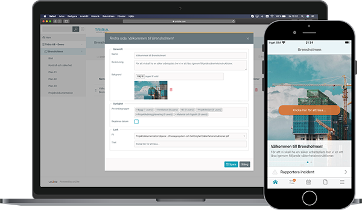 Skapa din egen projekthemsida i Unizite