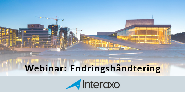 Webinar: Endringshåndtering i Interaxo