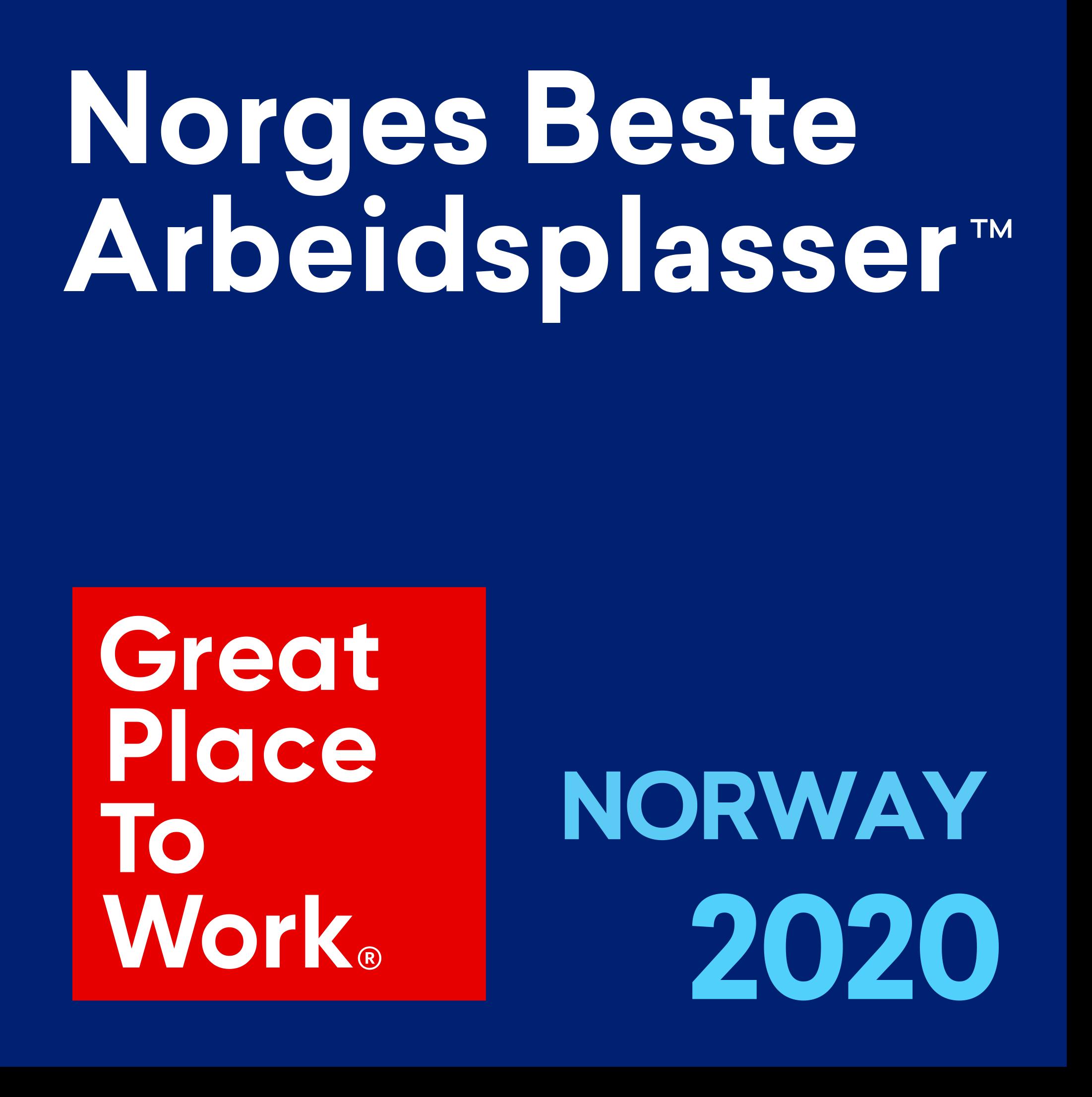 På pallen som en av Norges beste arbeidsplasser
