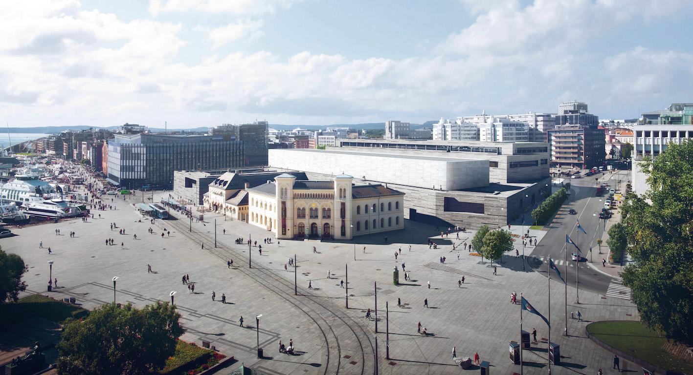 Det nya Nationalmuseet i Norge byggt med hjälp av Interaxo